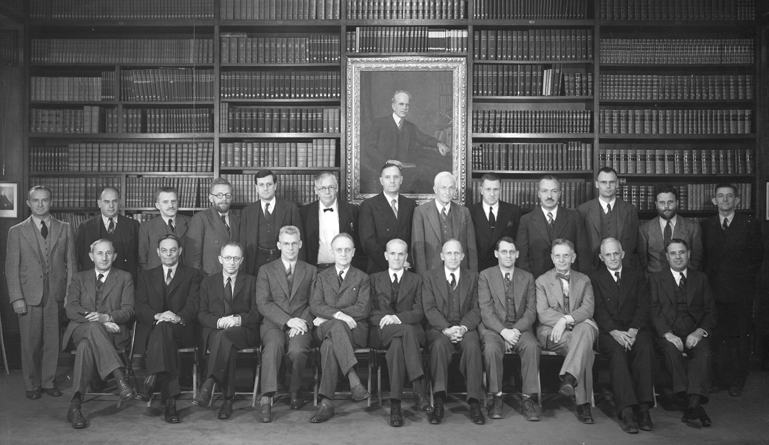 Group portrait of Observatories' staff astronomers, taken 1939
