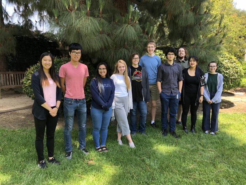 The 2018 Summer Students in the Garden at Carnegie Observatories