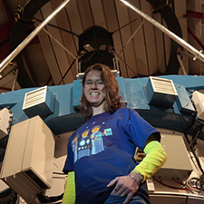 Photo of Johanna Teske at the Magellan Telescope