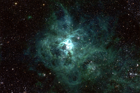 Image of the Tarantula nebula, imaged by the FourStar instrument.