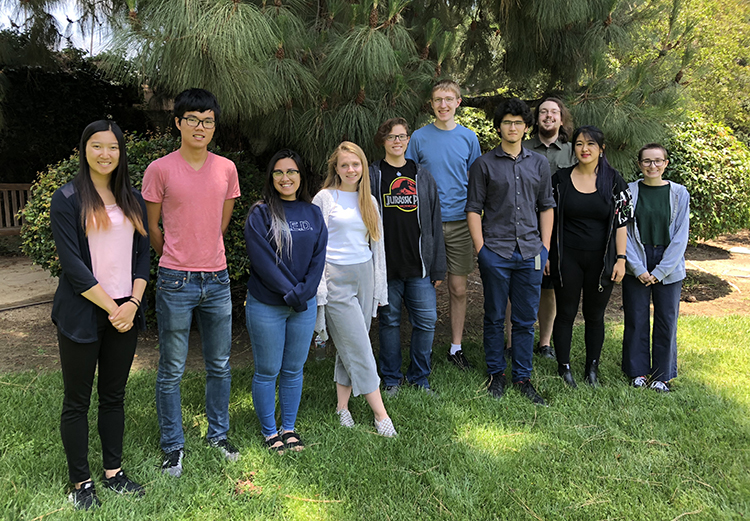 Photo of our 2018 cohort of summer undergraduate researchers