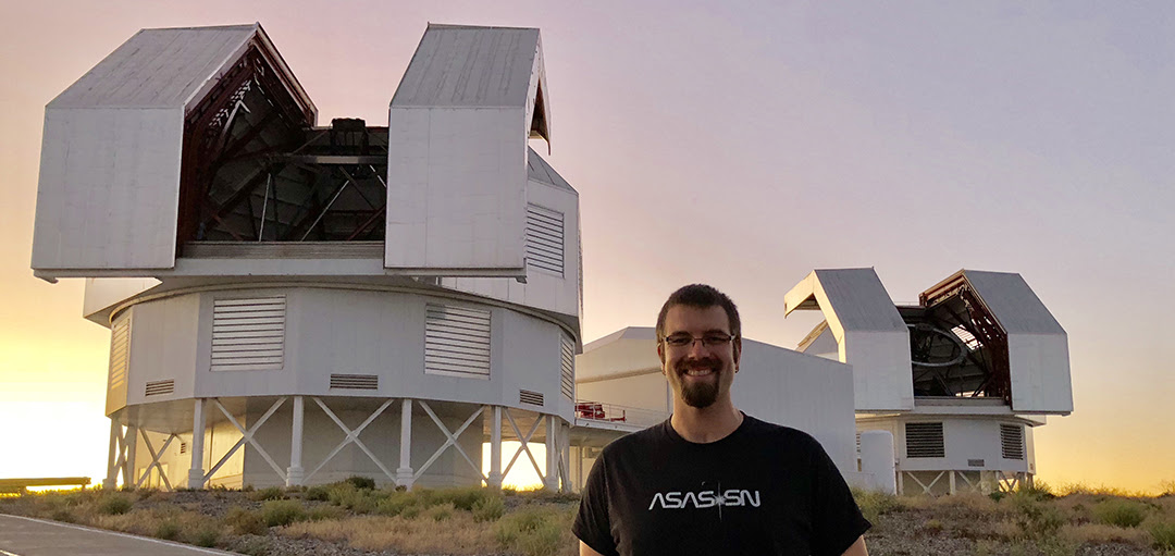 Tom Holoien, Carnegie Fellow, at Las Campanas Observatory