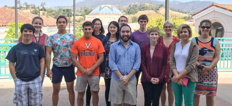 2016 Summer Interns visit the Glendale Community College Planetarium