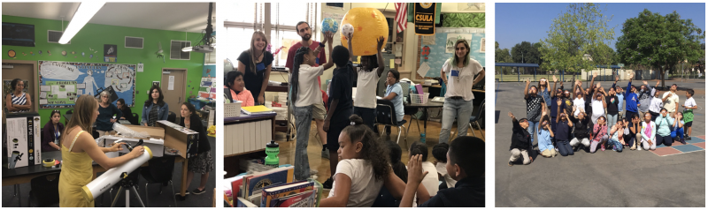 "Three photos of Pasadena classrooms in ""Under one Eclipse"" program"